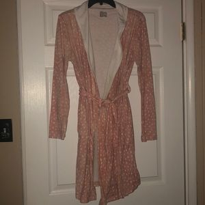 XS/S Polka dot soft robe